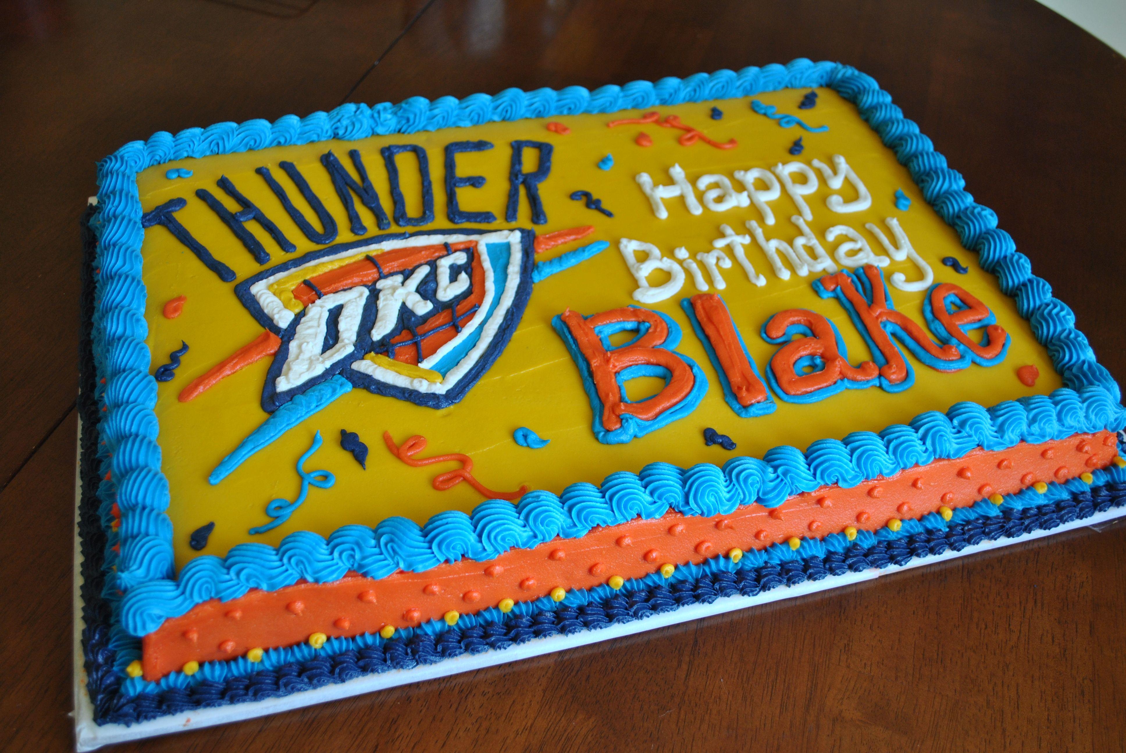 Astonishing Oklahoma City Thunder Birthday Cake Facebook Com Birthday Cards Printable Inklcafe Filternl
