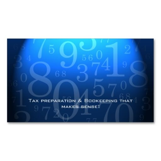 Accounting bookkeeping business card blue this is a fully accounting bookkeeping business card blue this is a fully customizable business card and available reheart Choice Image