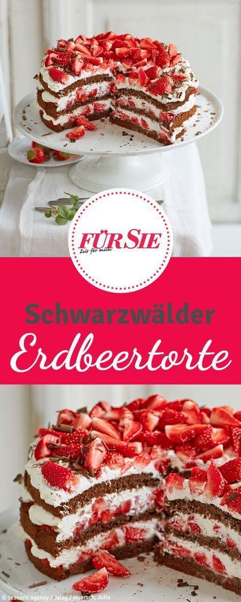 Schwarzwälder Erdbeer-Torte  - Essen und Trinken -