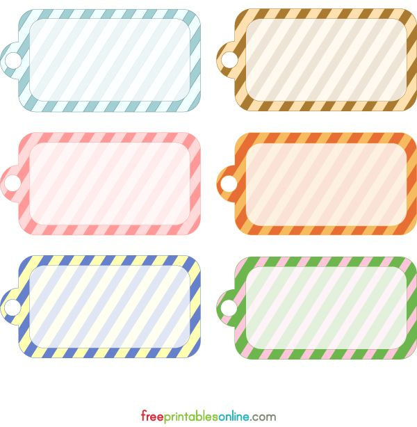 Free Printable Striped Gift Tags | Printables | Pinterest | Free