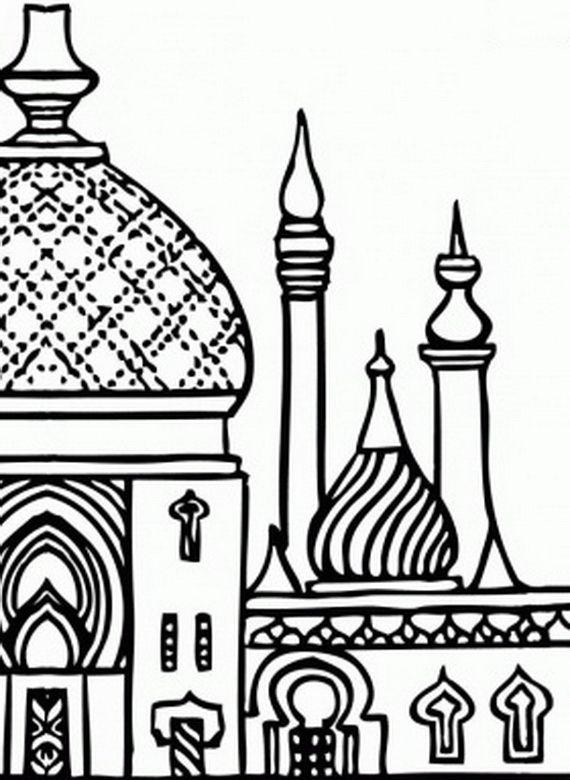 islamic art coloring pages - isra miraj islamic coloring pages 2012 colouring pages