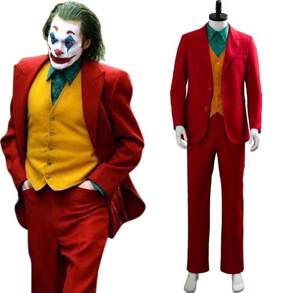 Batman Joker Cosplay Joaquin Phoenix Suit Outfits Halloween Cosplay Costume