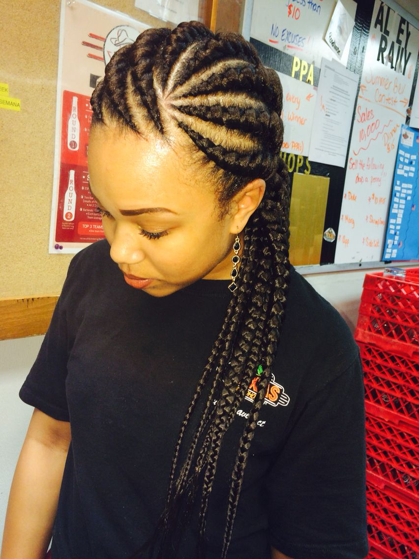 Large Ghana twists/cornrows Natural Hair Natural hair