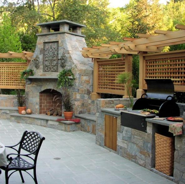 20 Gorgeous Outdoor Kitchen Ideas That Ll Put Your Indoor Setup To Shame Outdoor Kitchen Design Outdoor Kitchen Countertops Diy Outdoor Kitchen
