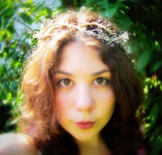 Sugar Magnolia Flower Circlet Crown by JulieRoseSews on Etsy