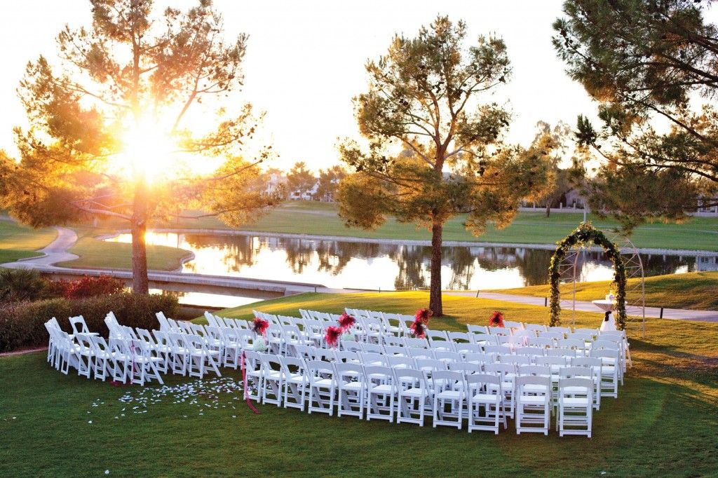 Beautiful Outdoor Ceremony Setting At Ocotillo Golf Resort In Chandler Arizona Image By Blue Nest Photography