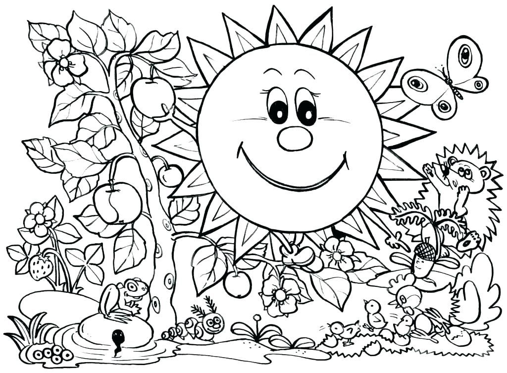 Coloring Page For Kids Coloring Pages To Print For Kids Spring Coloring Pages For Kids Print Spring Coloring Pages Spring Coloring Sheets Summer Coloring Pages