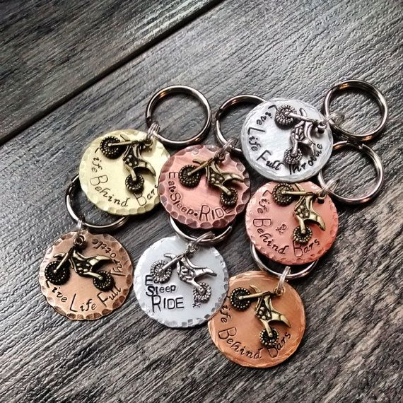 Dirt Bike Motocross Keychain Quotes Personalized By