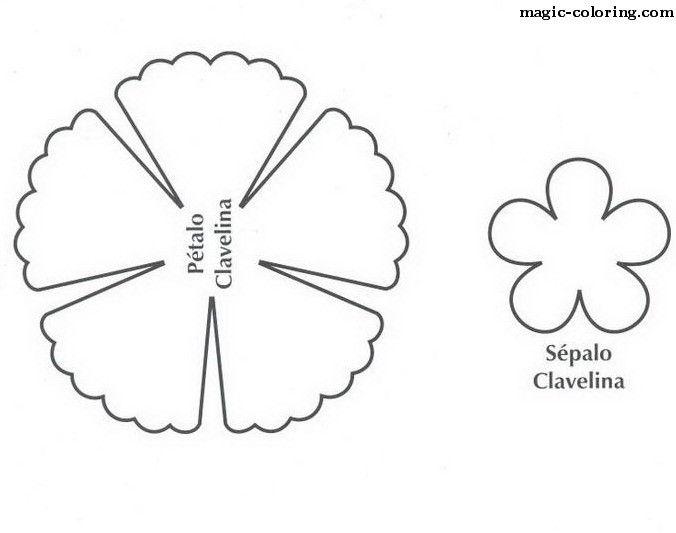 Magic Coloring Dianthus Carnation Flower Template Flower Template Paper Flower Printable Templates Paper Flower Kit