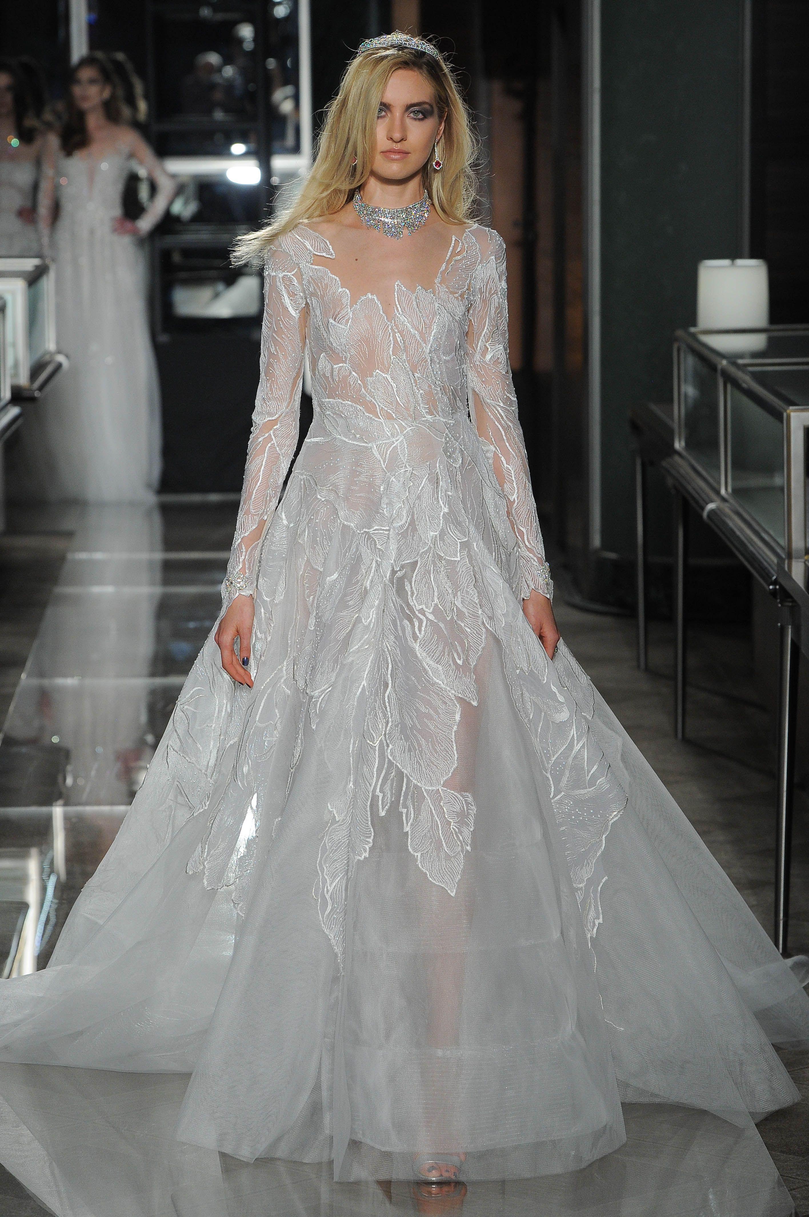 3b46be4364e6 Reem Acra - Bridal Collection - Reem Acra, Bridal Spring 2018, New York,  April 2017