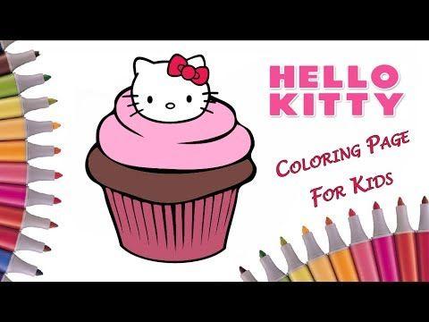 Раскрашиваем кекс Hello Kitty и Cupcake Chic | Раскраска ...
