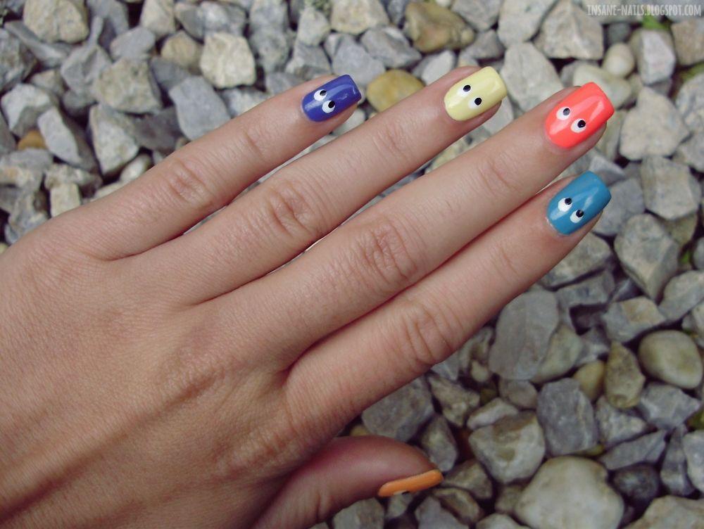 inSANEnails: 10 days summer challenge: day 10 - favourite summer mani #nails #nailart #skittle