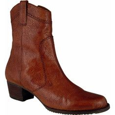 Elites Cowgirl (women's) - Tan Tooled Leather