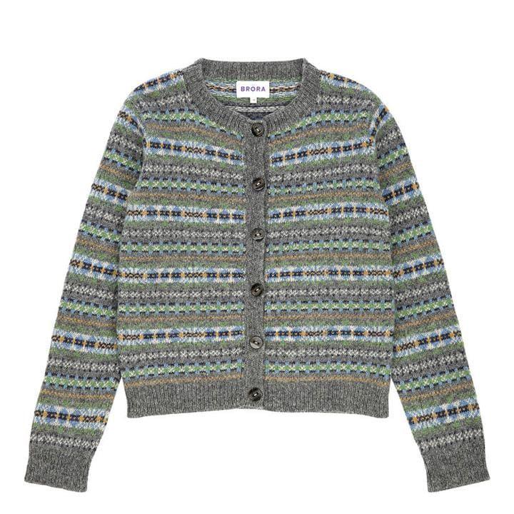 Lambswool fair isle cardigan, £125, Brora | Knitting | Pinterest ...