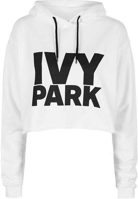Ivy Park Cropped Logo Detailed Hoodie Hoodies Types Of