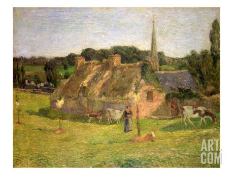 Lollichon's Field and the Church of Pont-Aven, 1886 Giclée