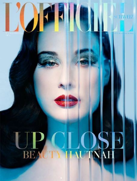 Dita Von Teese - L'Officiel Magazine Cover [Switzerland] (July 2014)
