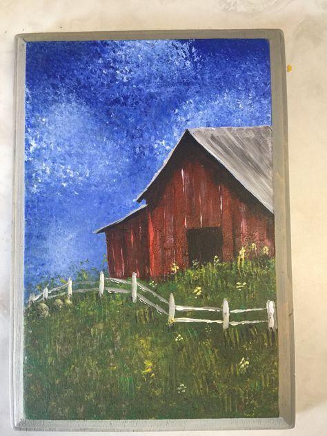 56 Ideas Painting Canvas Ideas Country Etsy Barn Painting Canvas Painting Painting