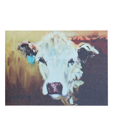 White Cow Wrapped Canvas Great Price On This One Cow Art For Your