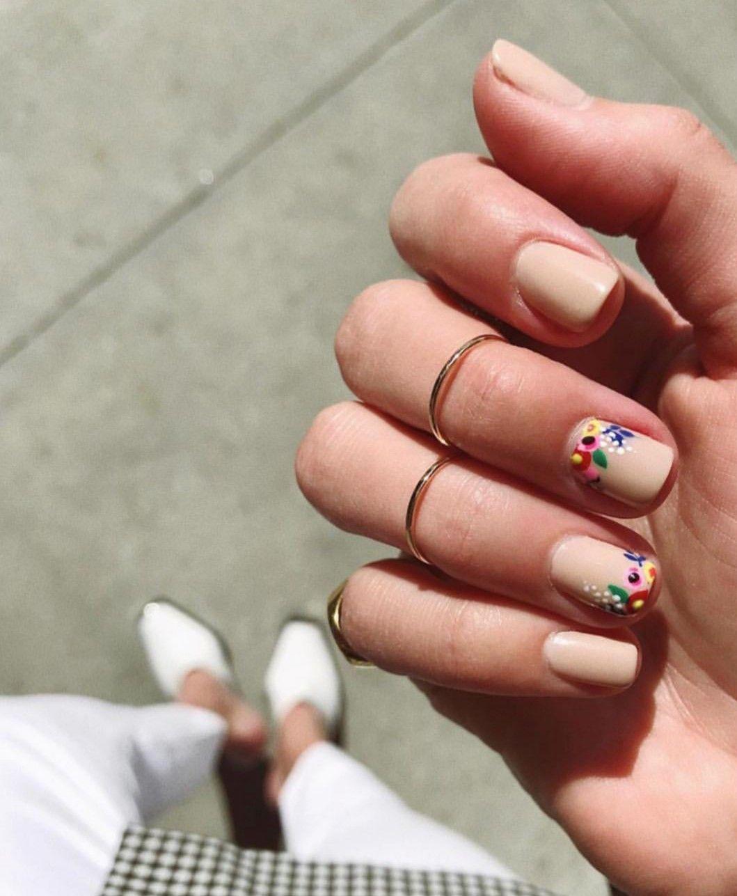 Beautiful Bails Design Floral Nails Gel Manicure Colors Manicure