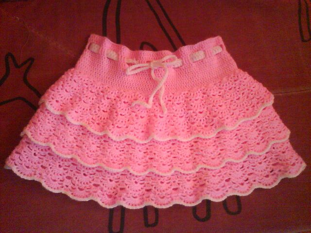 Crochet Skirt Patterns for Kids | crafts for summer pink skirt ...