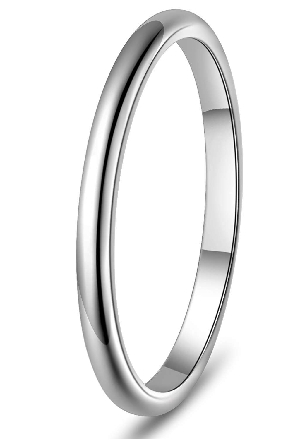 Bridal Wedding Bands Decorative Bands Stainless Steel Polished Beaded Grooved Ring Size 11.5