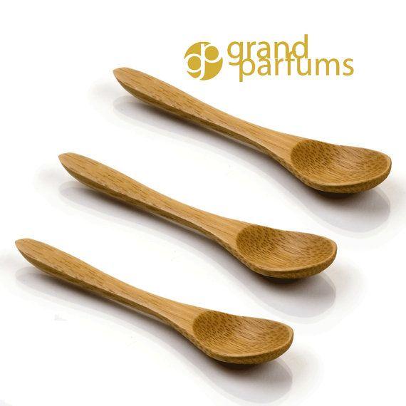 12 MINI Bamboo Wood Spoons- 3 5