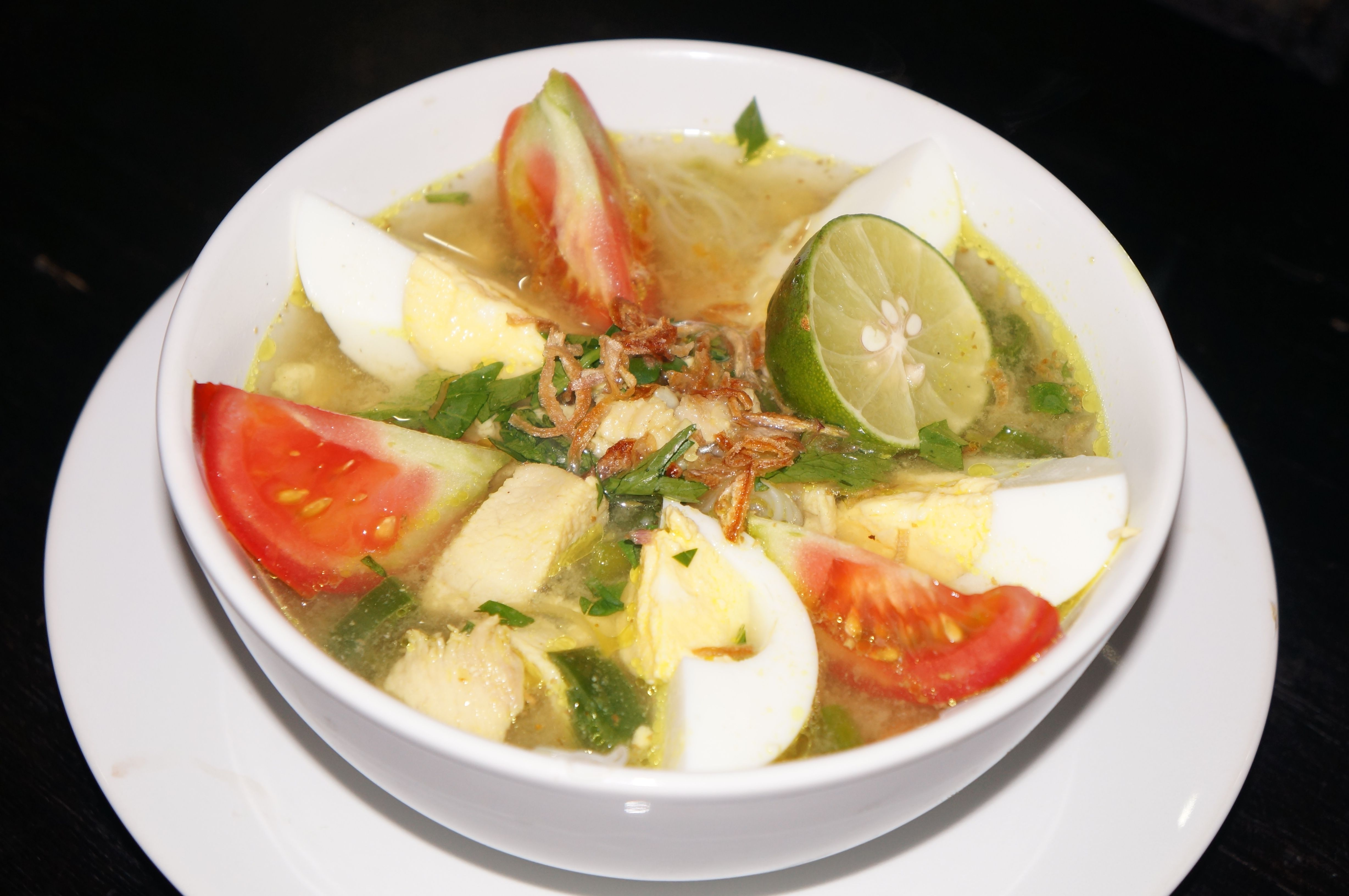 Soto Ayam (chicken soup) Recipe available on Facebook: https://www.facebook.com/blisssanctuaryforwomen