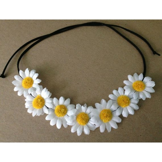 Daisy Flower Halo by HipsterDenimShop on Etsy, $8.00