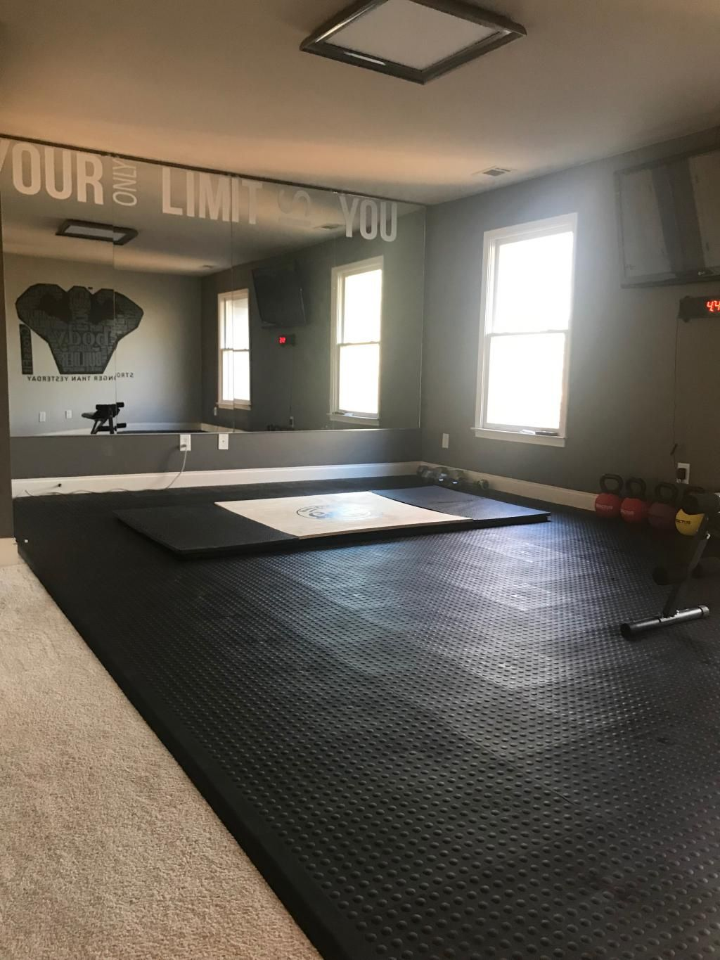 Staylock Tile Bump Top Black Home Gym Flooring Gym Room At Home