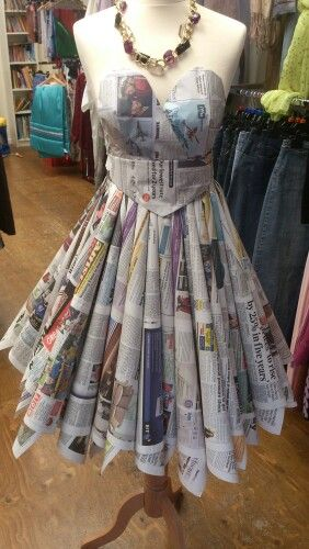 Newspaper prom dress 4/10/13
