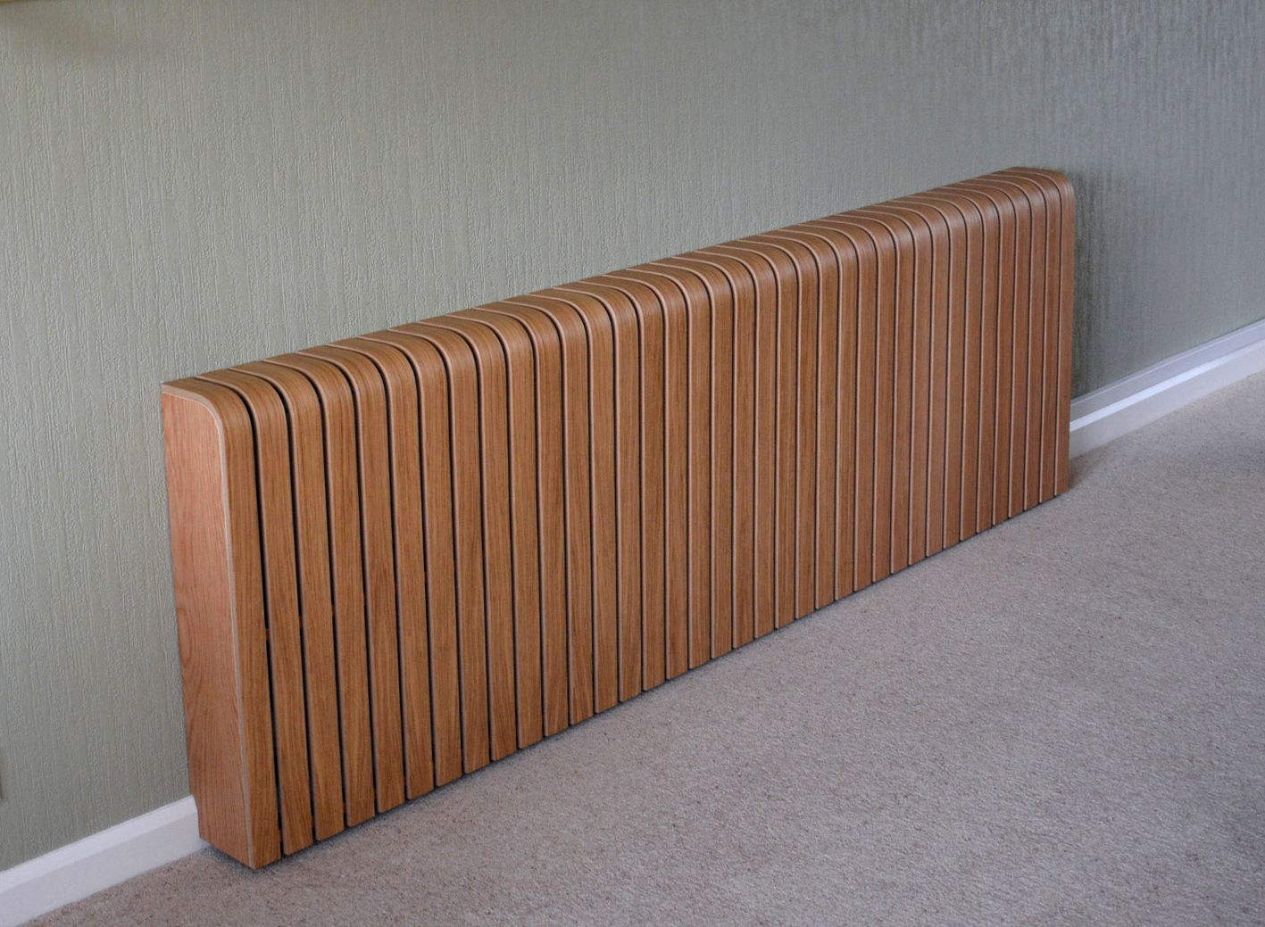 Long oak radiator cover. www.eastkenttimber.co uk