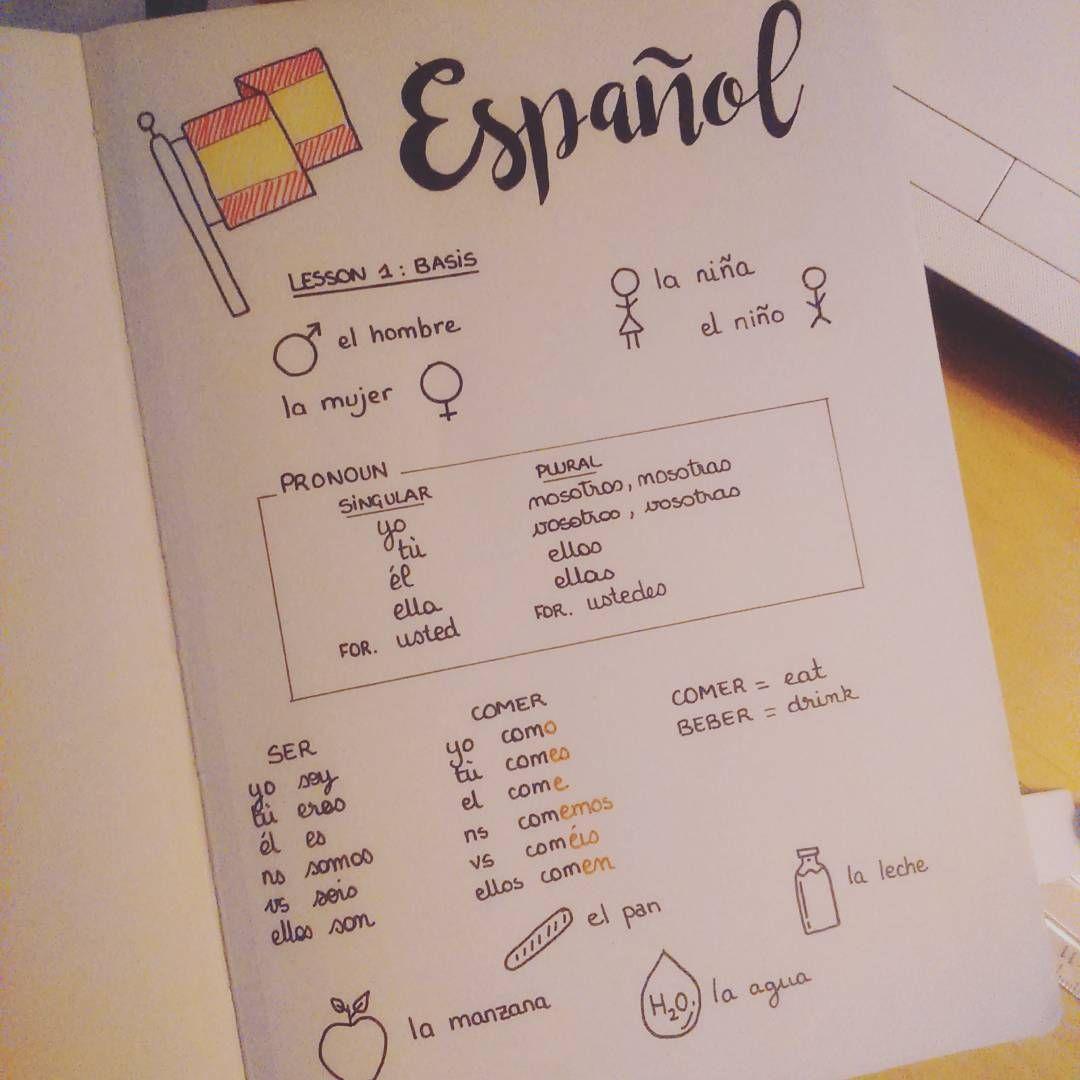 "Laurence on Instagram: ""I'm trying to learn Spanish and my #bulletjournal is my best advantage ! #leuchtturm1917 #mySTAEDTLER #bujo #bujojunkies #bulletjournal…"""