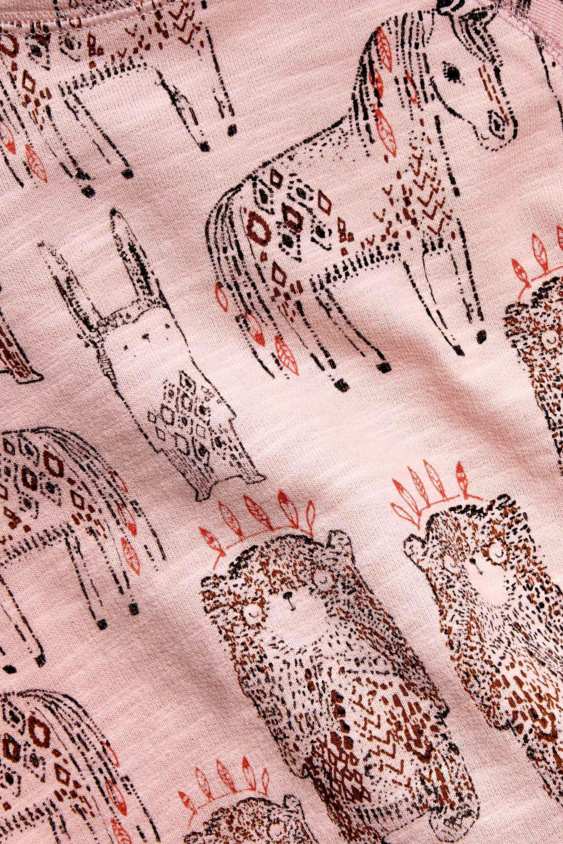 Buy Pink Animal Printed Crew (3mths-6yrs) from the Next UK online shop