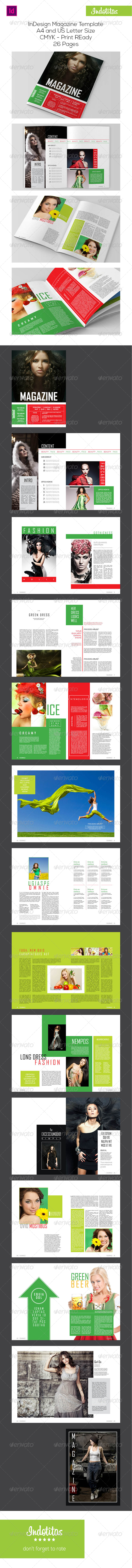 InDesign Magazine Template | Indesign magazine templates, Template ...
