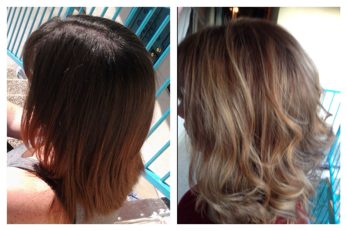 Light brown balayage ombre with lots of dimension stuff