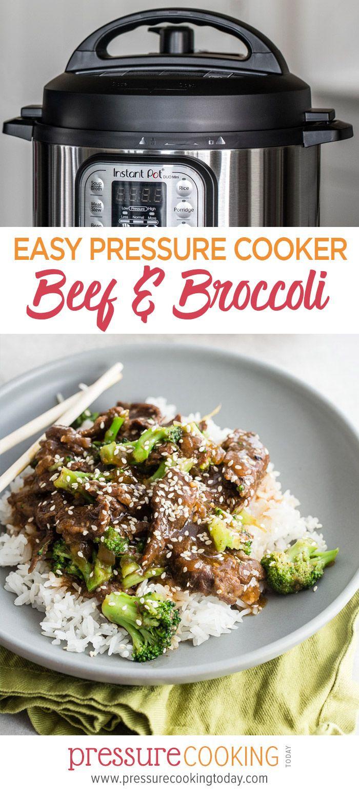Pressure Cooker Beef and Broccoli #beefandbroccoli