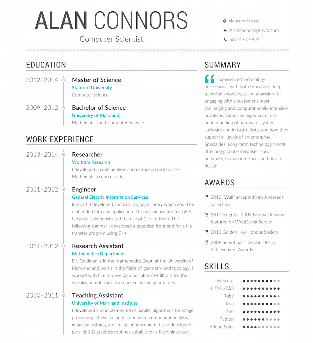 Opensource Resume Generator. Profession.is  Online Resume Generator