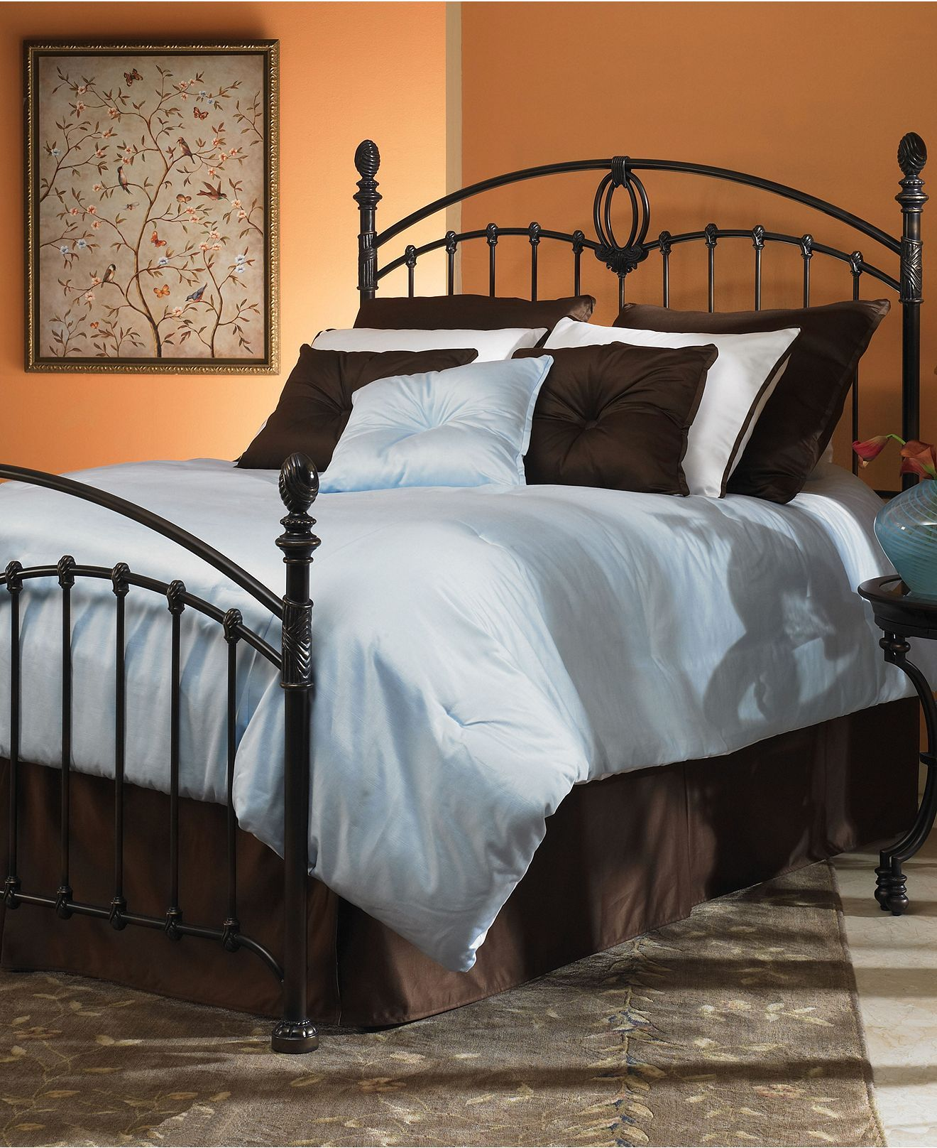 Best Thornbury Tarnished Copper California King Bed Metal Bed 400 x 300