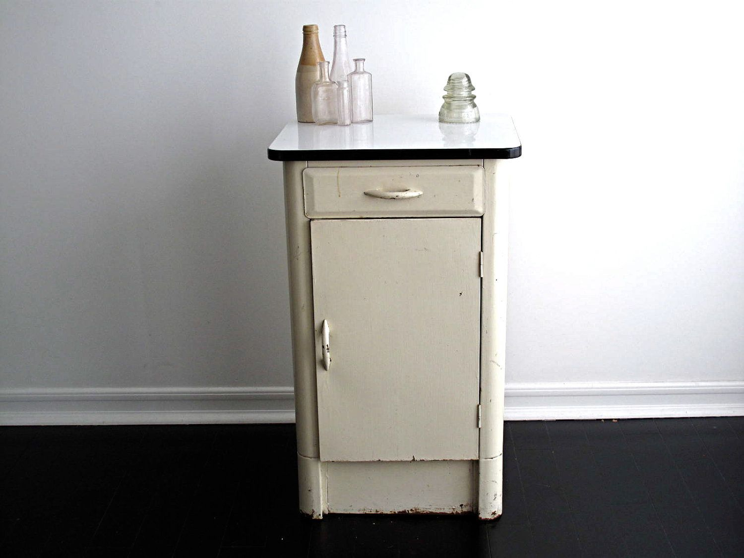 Office Metal Cabinets Vintage White Metal Cabinet With An Enamel Top Via Etsy Head