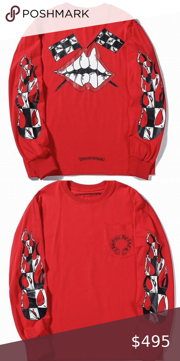 Men Red Chrome Hearts Sweatshirt in 2020 (With images