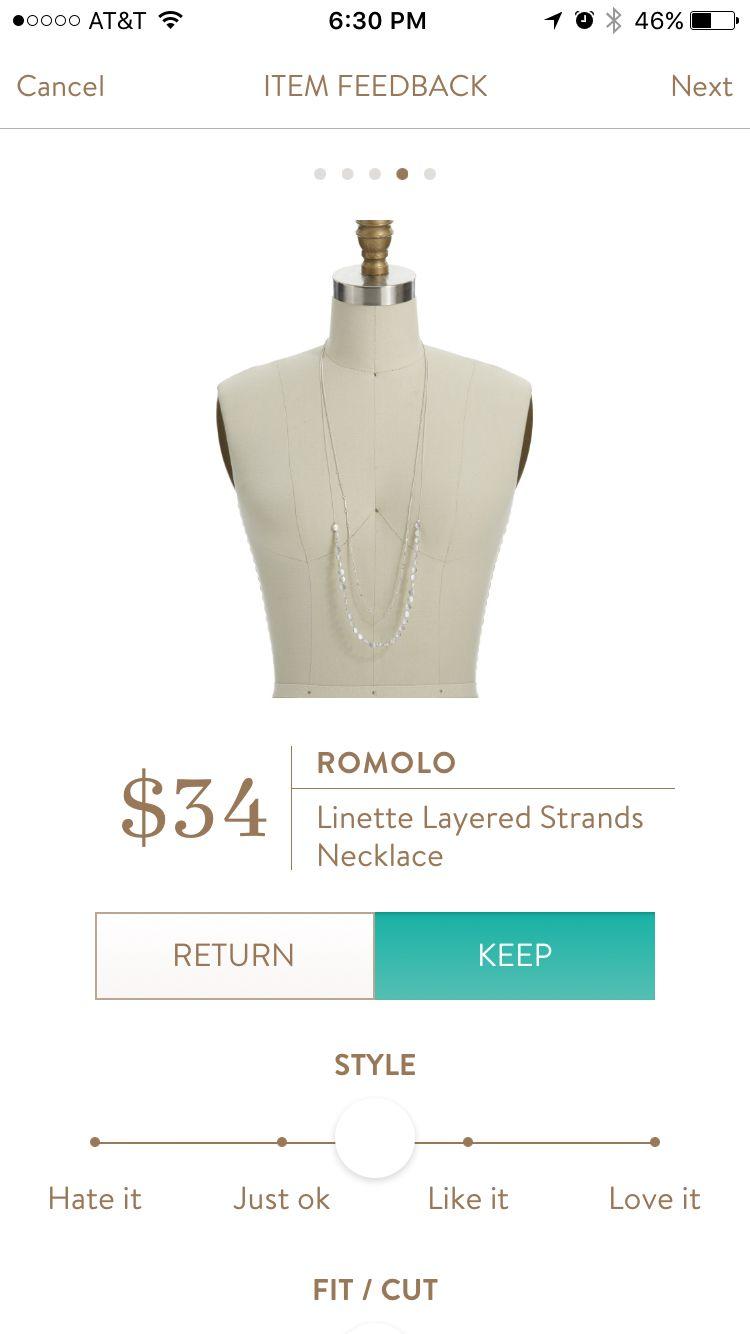 f2d4db97153 Stitch Fix Romolo Linette Layered Strands Necklace Fix Clothing, Clothing  Ideas, Stitch Fix App