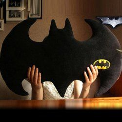 Chic Batman Logo Shape Pillow (BLACK