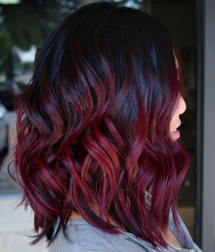 45 Shades Of Burgundy Hair Dark Burgundy Maroon Burgundy With Red Purple And Brown Highlights Wine Hair Hair Dye Tips Burgundy Hair Dye
