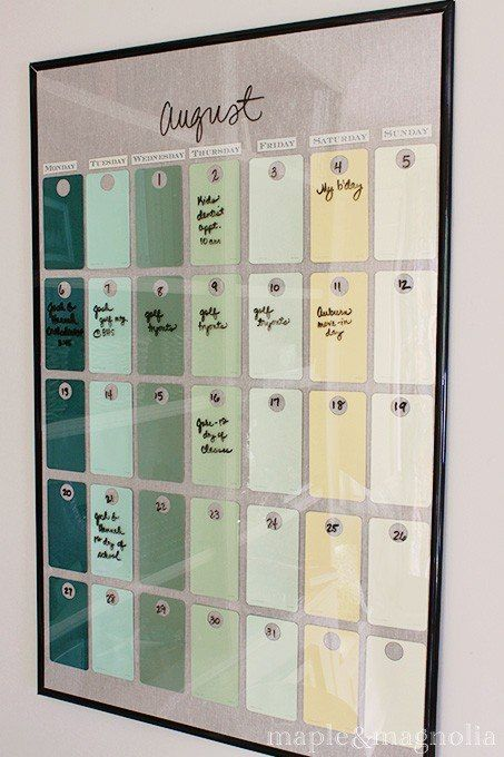 Pin By Audra White On Crafts Paint Chip Calendar Dollar Store