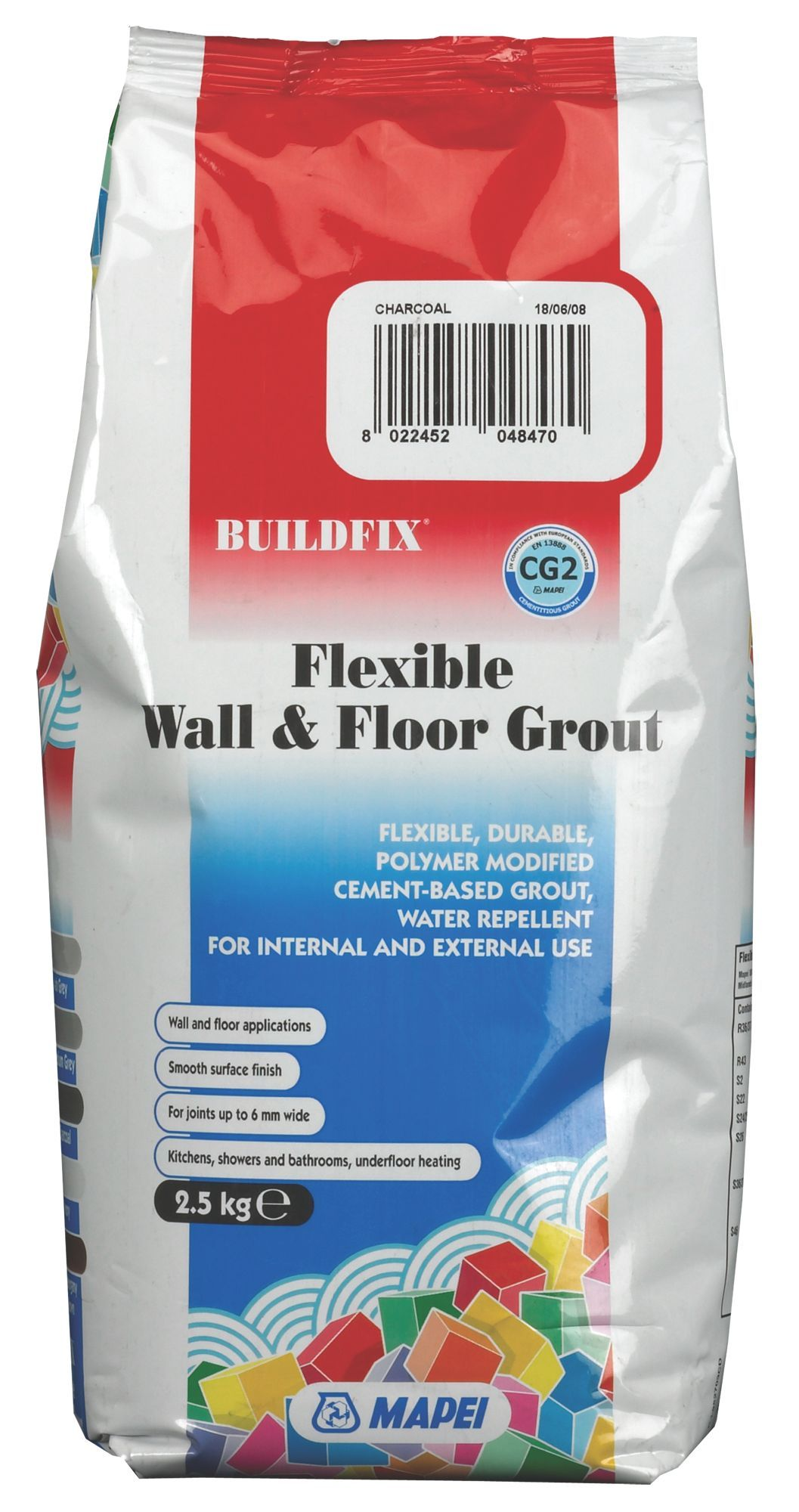 Mapei Flexible Charcoal Wall & Floor Grout (W)2 5kg | Departments