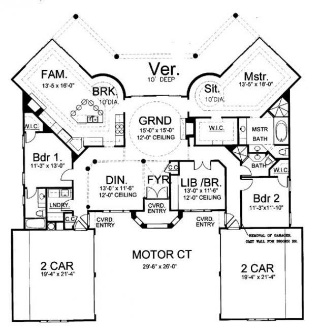 Dalmany Ranch Floor Plans Small Luxury House Plan Small floor - new blueprint for 3 car garage