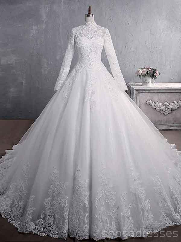 Cheap Long Sleeves High Neck Modest Wedding Dresses Online Cheap Bridal Dresses Wd517 Online Wedding Dress Cheap Bridal Dresses Gothic Wedding Dress