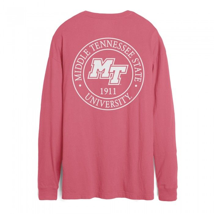 Add a classic and cute look to your MTSU collection with this Middle Tennessee Boyfriend cut long sleeve tee from League! Go Blue Raiders! #MTSU #blueraiders