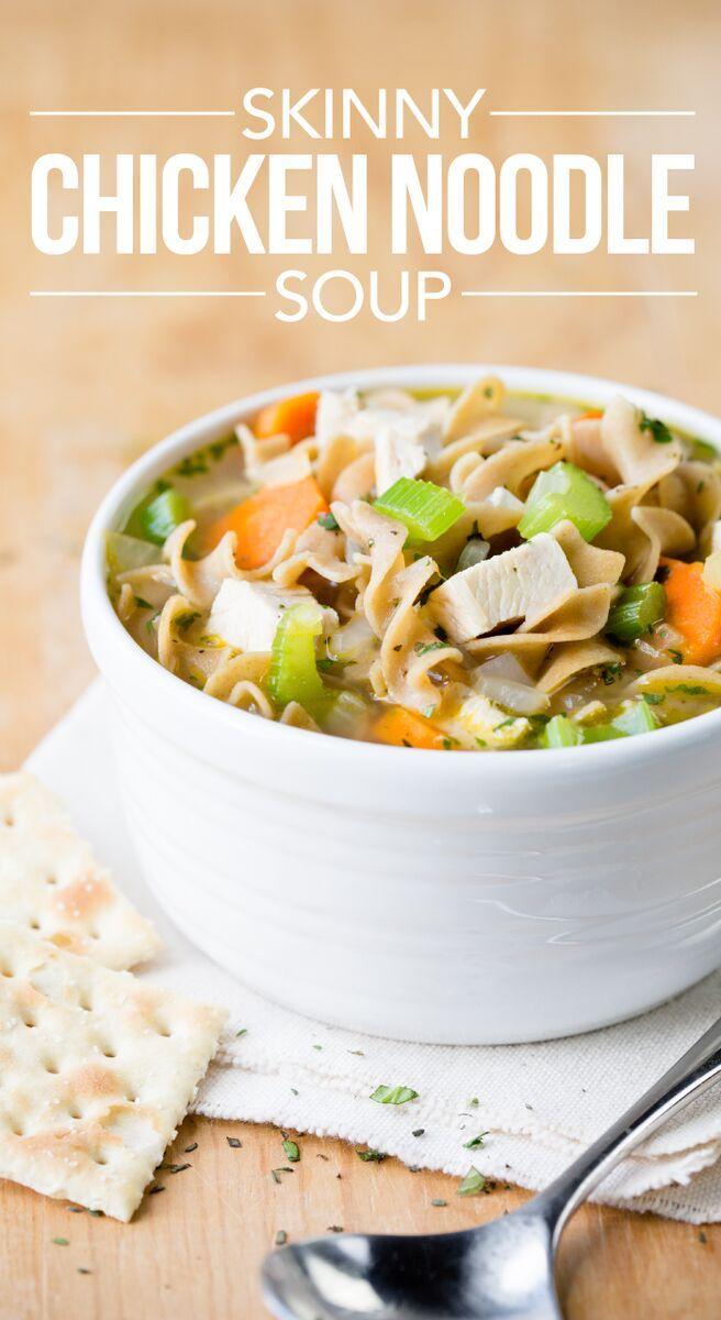 Recipe: Skinny Chicken Noodle Soup | Eintopf, Ernährung und Sport